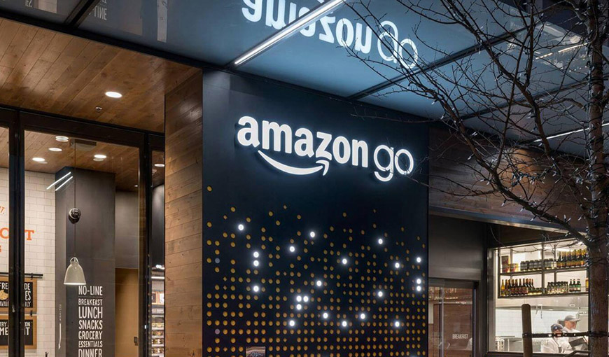 The outside of an Amazon Go store - Absolunet eCommerce Trends