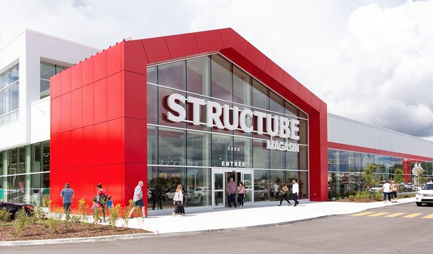 structube distribution center in Laval